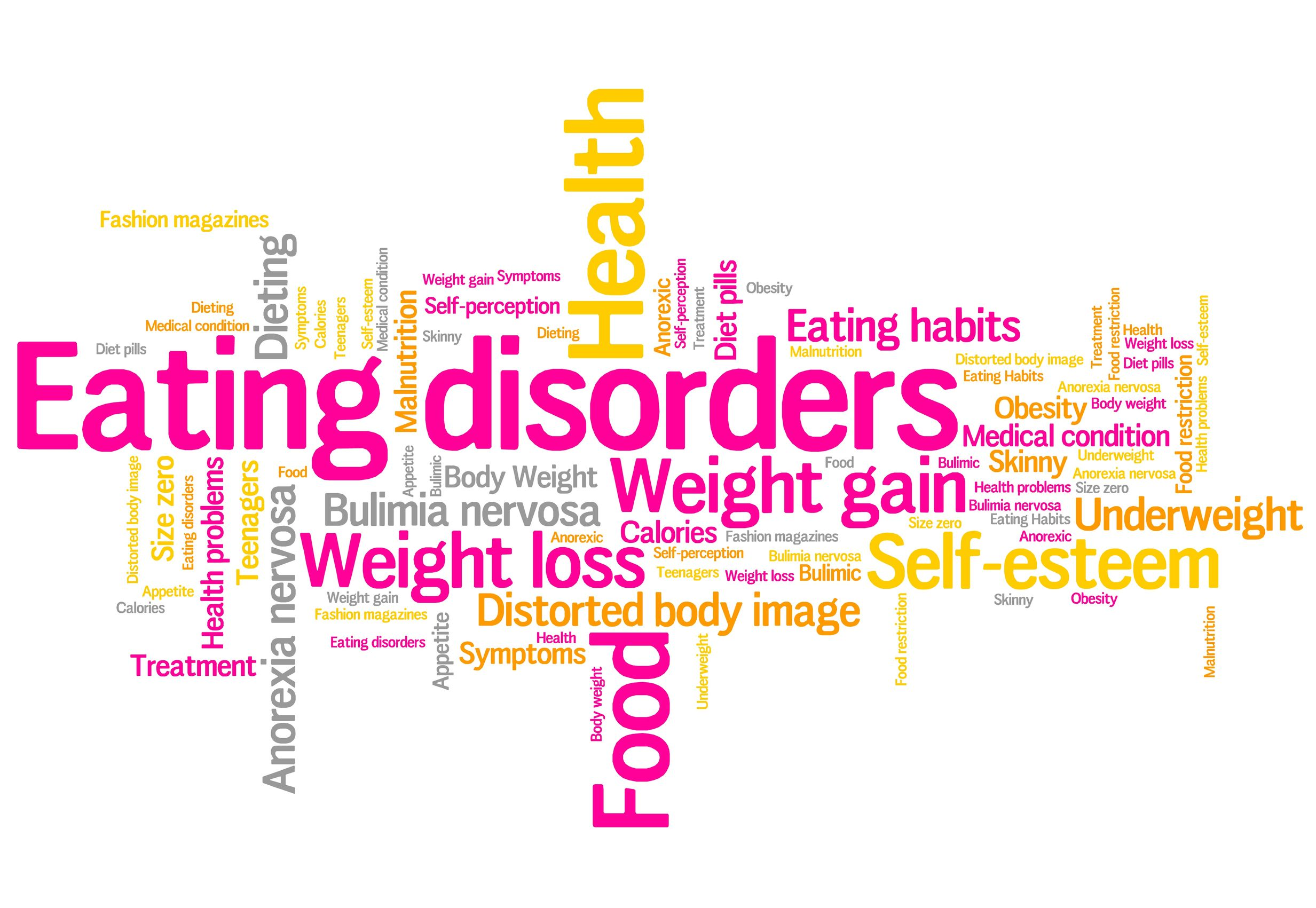 eating distorder concepts word cloud illustration. word collage concept.